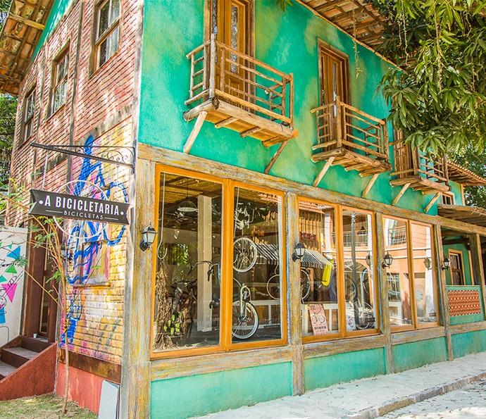 O loja de bicicletas é um charme (Foto: Artur Meninea)