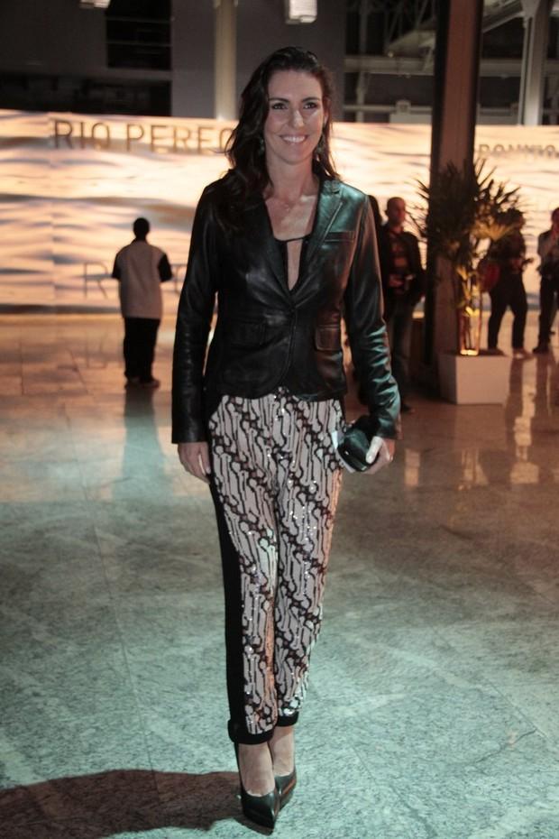 Glenda Kozlowski no Fashion Rio (Foto: Isac Luz / EGO)