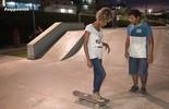 Jaque Santtos fala sobre experiência na aula de skate