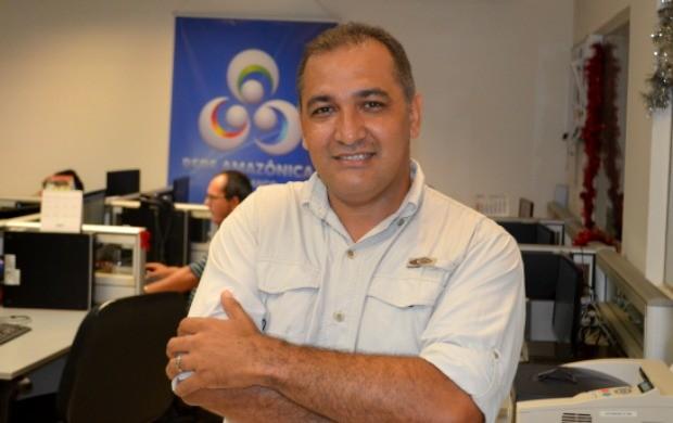 Repórter Luízio Oliveira completa 42 anos nesta segunda-feira (9) (Foto: Murilo Lima)