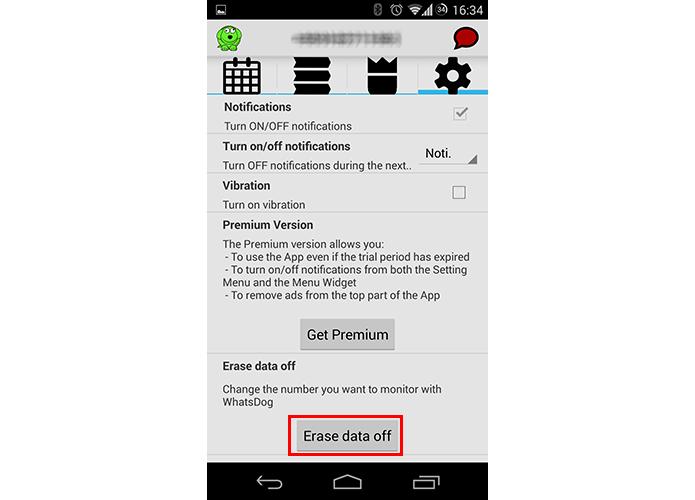 Apague os dados para trocar de número monitorado (Foto: Reprodução/Paulo Alves)