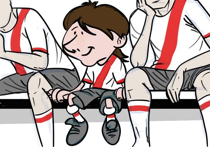 Ilustração Messi RIver Plate Universo Paralelo (Foto  Claudio Roberto) cab354d4baf93