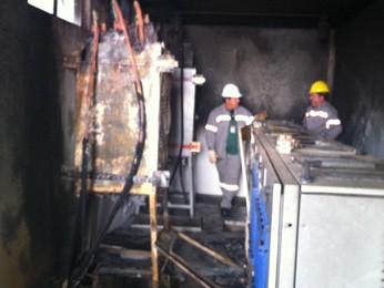 Incendio em transformador de energia 307 Norte (Foto: Willian Farias)