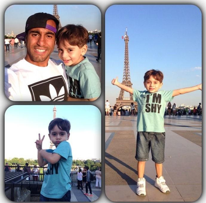 Lucas e so sobrinho em Paris (Foto: Reprodução/Instagram)