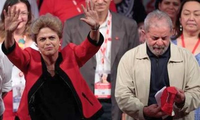 Dilma na abertura do Congresso da CUT ao lado de Lula (Foto: Pedro Kirilos)