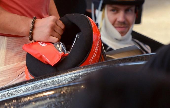 schumacher 2013 alemanha formula 1 pulseira (Foto: AFP)