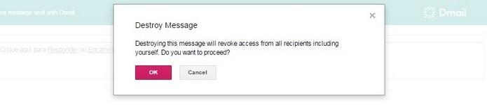 Botão Revoke Email destrói mensagens já enviadas em qualquer tempo (Foto: Reprodução/Raquel Freire)