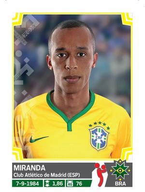 Álbum da Copa América - Miranda Brasil