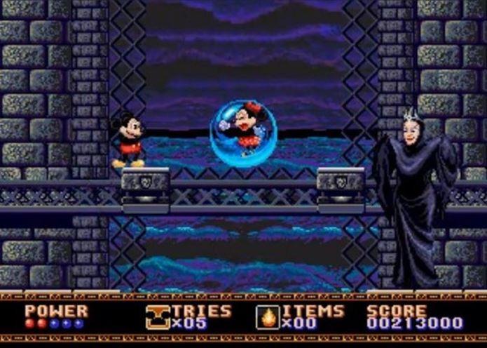 Primeira aventura de Mickey no Mega Drive é um dos jogos mais lembrados pelos donos do console (Foto: Reprodução / Games Radar)