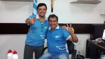 Vandick Lima e Alberto Maia - eleições Paysandu (Foto: globoesporte.com)