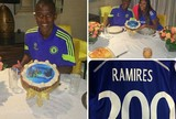 Ramires comemora 200 jogos pelo Chelsea e quer vida longa no clube (Reprodução / Instagram)
