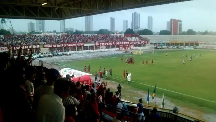Potiguar de Mossoró x Baraúnas Estádio Nogueirão (Foto: Amanda Melo / Inter TV  Costa Branca)