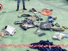 Exército divulga fotos de destroços do avião da EgyptAir