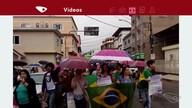 Moradores de Conceição do Castelo protestam contra reformas do governo