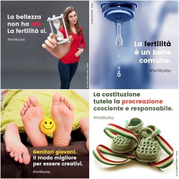 Campanhas sobre fertilidade causaram polêmica na Itália (Foto: Reprodução/ Facebook)