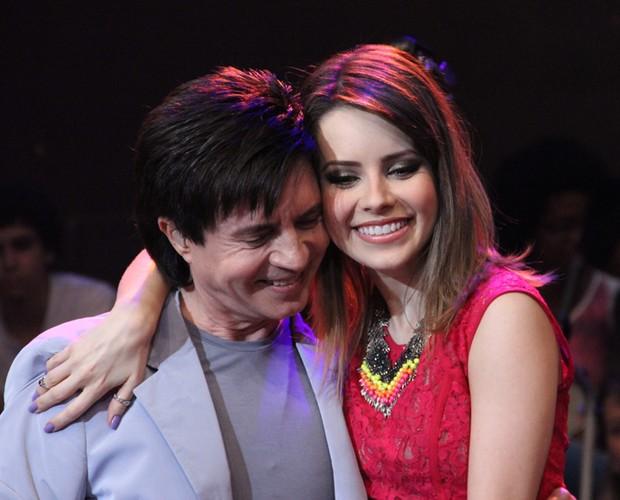 Sandy e Xororó cantam 'Eu sei que vou te amar' (Foto: TV Globo/Altas Horas)