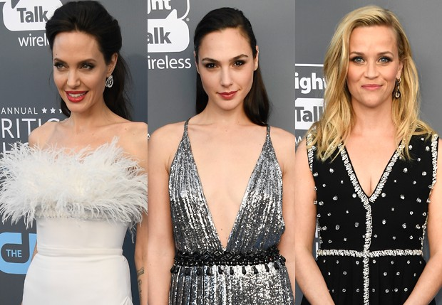 Angelina Jolie, Gal Gadot e Reese Witherspoon (Foto: Getty Images)