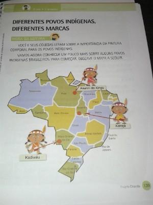 Erros chamam atenção em mapa em livro infantil (Foto: Vanessa Marques/TEM Você)