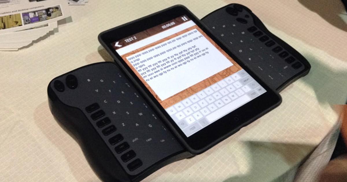 'Teclado do avesso' promete facilitar a digitação de textos em tablets