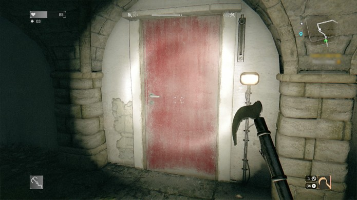 Após a entrada submersa esta porta levará você para o museu (Foto: Reprodução/Rafael Monteiro)