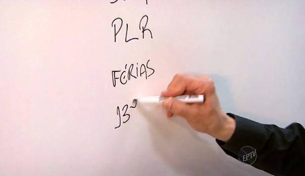 Quadro Pode Perguntar mostra direitos garantidos pela Carteira de Trabalho (Foto: Reprodução / EPTV)