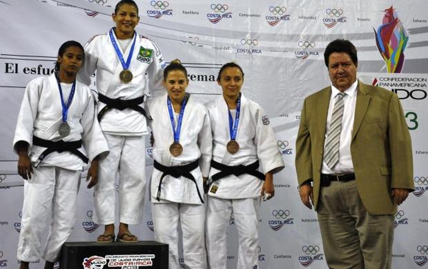 Sarah Menezes vai ao pódio no Pan-Americano de Judô (Foto: Divulgação/CBJ)