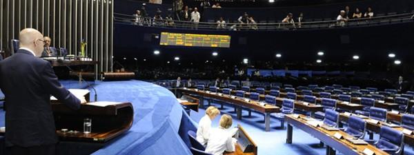 Demóstenes em sessão desta segunda (2) do Senado; sob risco de perder o mandato, ele disse que falará todos os dias até a votação do processo em plenário, no dia 11 de julho (Foto: Waldemir Barreto/Agência Senado)
