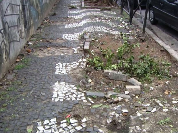Obras na avenida Ana Costa começam nesta quarta-feira (9) (Foto: Reprodução/TV Tribuna)
