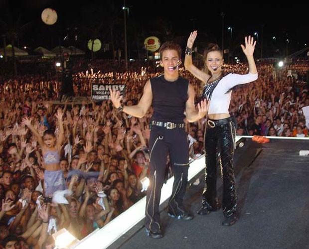 Show em João Pessoa reuniu o maior público de Sandy e Jr: 1milhão e 200 mil (Foto: Divulgação)