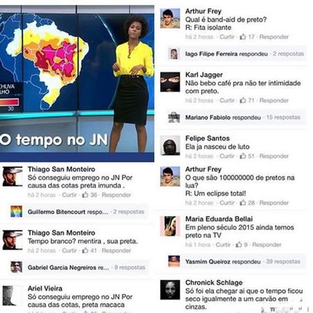 Alguns dos comentários racistas a Maju (Foto: Reprodução Facebook)