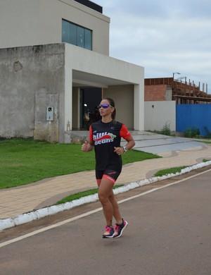 Mariana será a única mulher da região norte no Brasileiro de Triathlon 2017  (Foto: Lívia Costa)