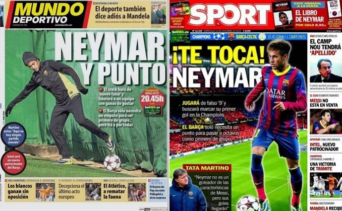 Capas jornais Barcelona Neymar (Foto: Reprodução/Internet)