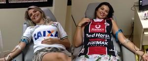 Equipe da RBS TV participa da campanha; doe (RBS TV/Divulgação)