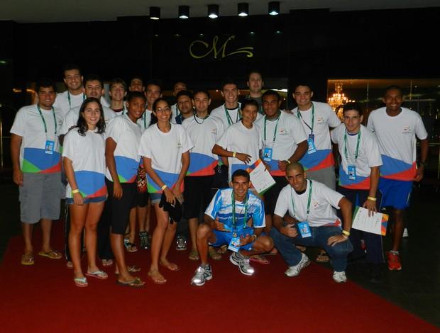Delegação de MT já está em Foz do Iguaçu para as Olimpíadas Universitárias (Foto: Pedro Lima/Assessoria)