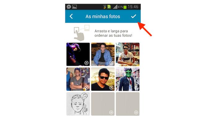 Confirmando a alteração da foto de perfil do Happn no aplicativo de paquera para Android (Foto: Reprodução/Marvin Costa)