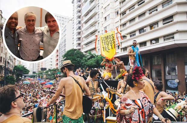 Caetano Veloso é o homenageado do bloco Tarado Ni Você (Foto: Reprodução/Instagram // Reprodução Facebook /Giselle Galvão Photography)