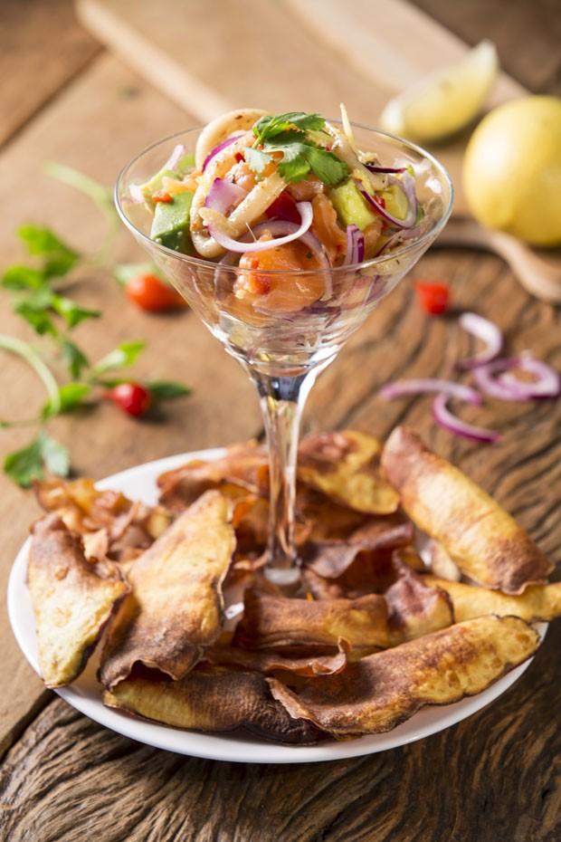 Receita de ceviche de salmão com abacate (Foto: Divulgação)