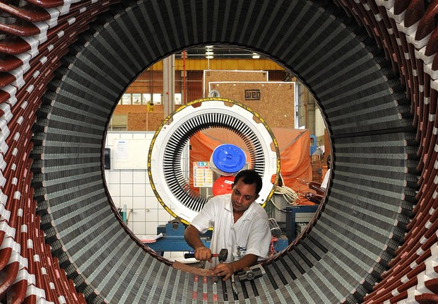 Produção industrial ; indústria ; PIB do Brasil ; crescimento econômico ; trabalhadores ; emprego ; operário ;  (Foto: Wilson Dias/Agência Brasil)