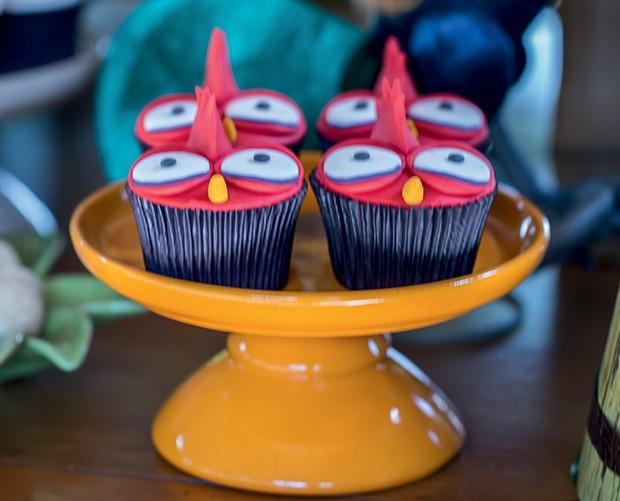 Cupcakes em 3D do personagem heiHei (Foto: Thais Galardi/GNT)