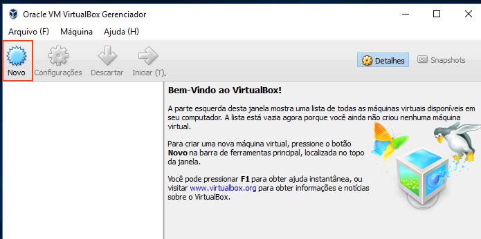 Iniciando a criação de uma nova máquina virtual no VirtualBox (Foto: Reprodução/Edivaldo Brito)