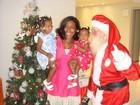 Filhas de Glória Maria fazem lista para Papai Noel seis meses antes do Natal