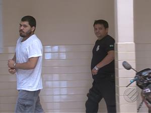 Henrique Buchinger nega participação no crime e diz ter sido vítima da quadrilha.  (Foto: Reprodução/TV Liberal)