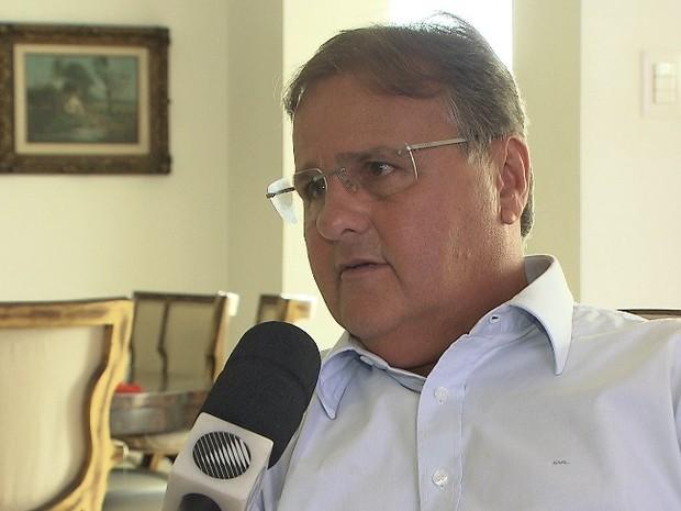 O ministro da Secretaria de Governo, Geddel Vieira Lima, em entrevista à Rede Bahia neste sábado (Foto: Reprodução/Rede Bahia)
