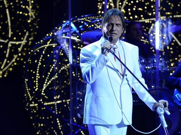 Roberto Carlos gravou especial neste sábado no Rio (Foto: Roberto Teixeira / EGO)