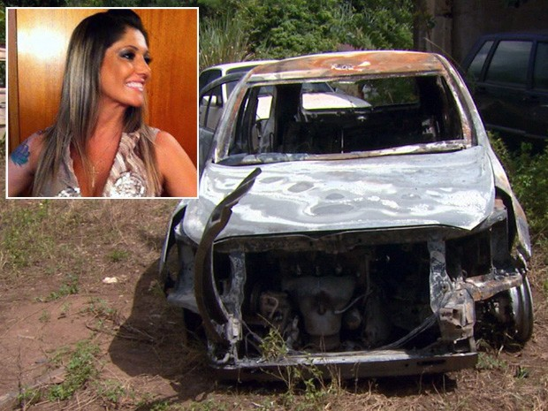 Polícia investiga se corpo encontrado em carro em chamas é de fisioterapeuta desaparecida em Itajubá (Foto: Reprodução EPTV)