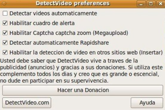 screenshot de DetectVideo