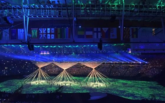 Cena de abertura da cerimônia de abertura da Olimpíada do Rio (Foto: Liuca Yonaha/Época)