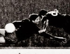 Evaristo de Macedo gol Barcelona 1960 contra Real Madrid Copa Europa (Foto: Reprodução)