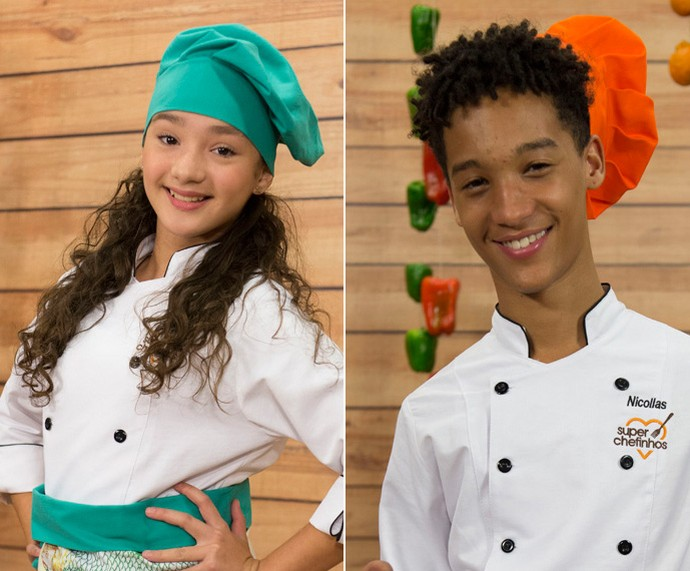 Kailane e Nicollas deixam o 'Super Chefinhos' (Foto: Globo/Renato Rocha Miranda)