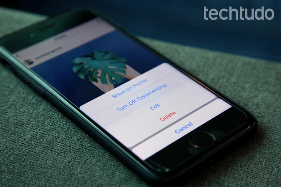 Instagram ganha recurso de arquivamento de posts do perfil (Foto: Carolina Ochsendorf/TechTudo)
